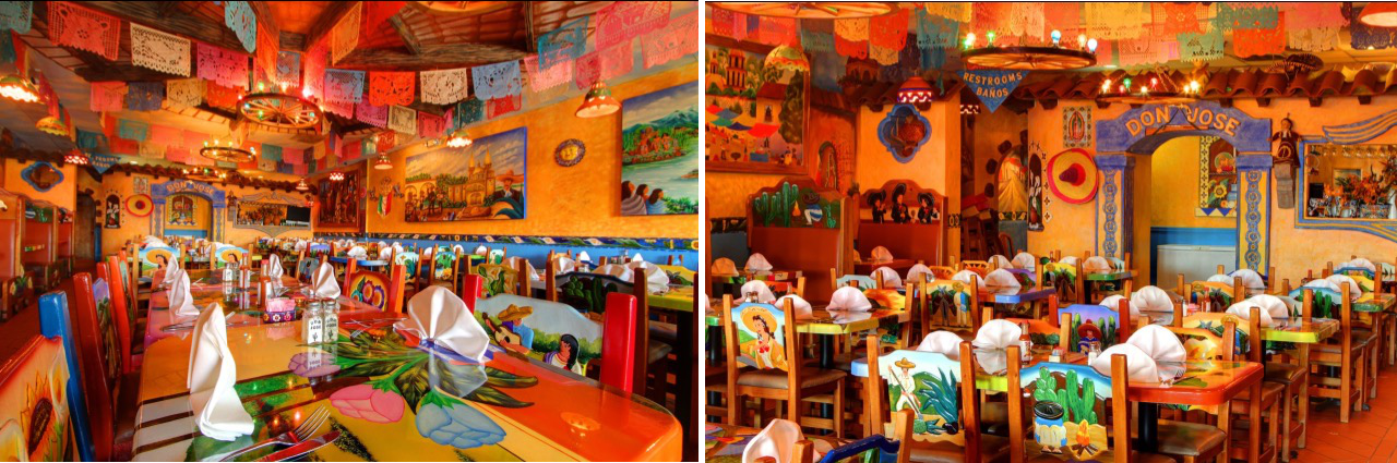 Spacious seating , great food  Don Jose Mexican Restaurant